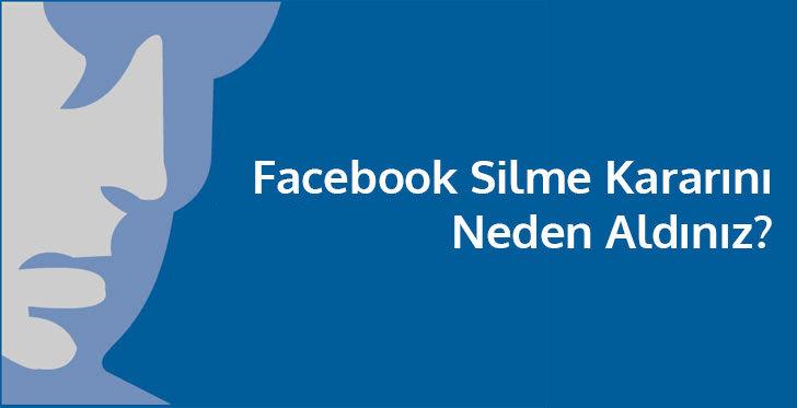 facebook hesabımı silmek istiyorum