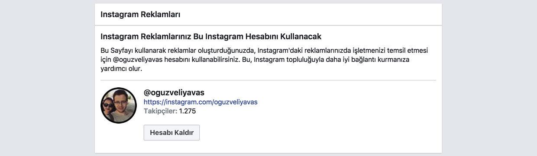 instagrama reklam vermek için facebook sayfasına instagram hesabı ekleme