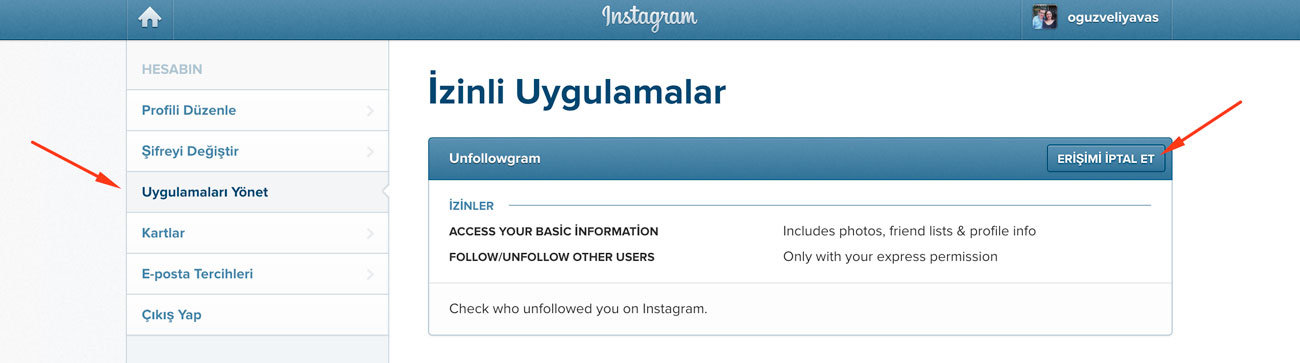 instagram uygulama silme