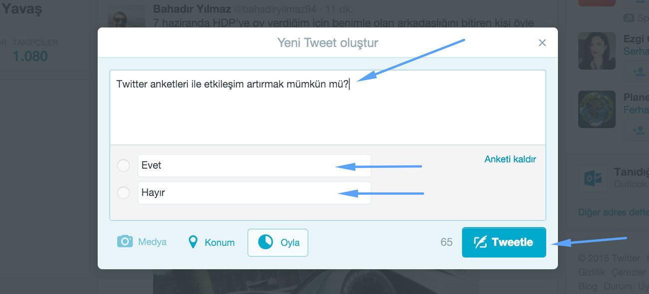 twitter anket yapma - twitter anket nasıl yapılır - twitter anket uygulaması