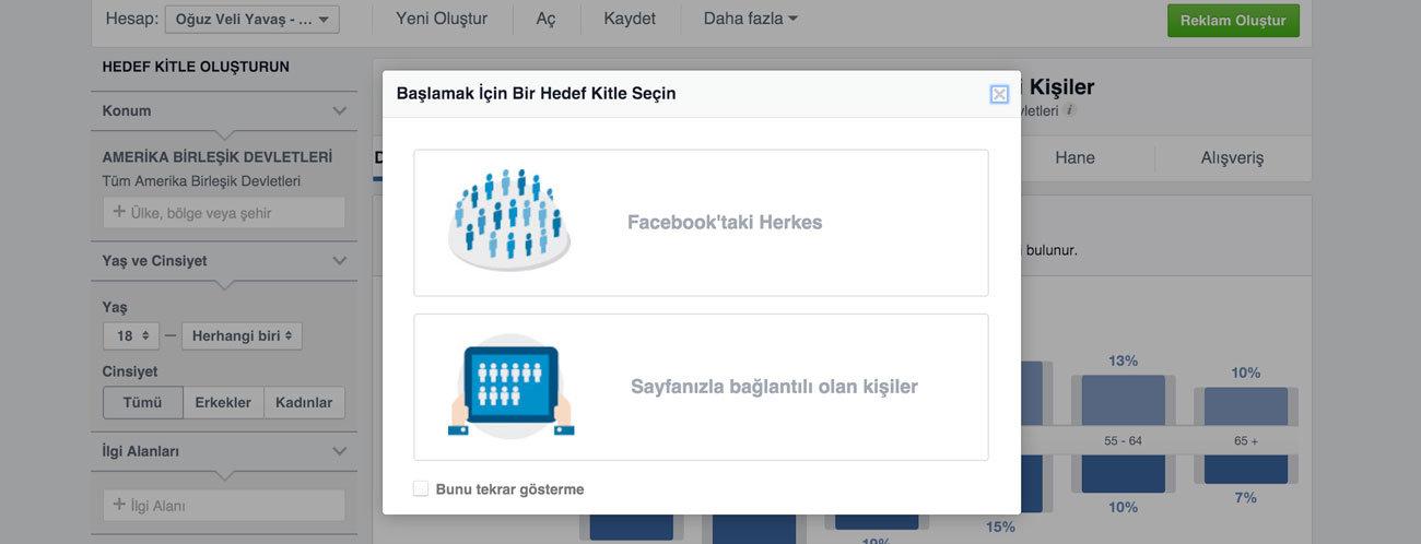 Facebook hedef kitle belirleme nasıl yapılır