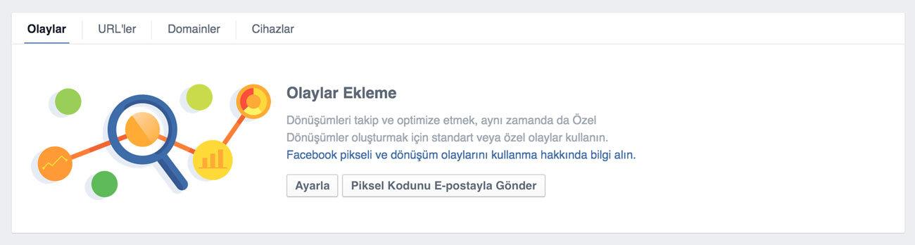 Facebook Piksel Eylemleri - Facebook Dönüşüm Pikseli Ekleme