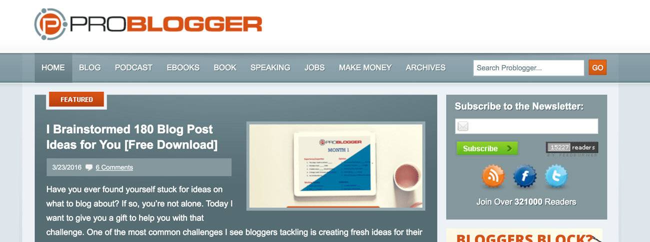 En İyi Yabancı Bloglar - ProBlogger