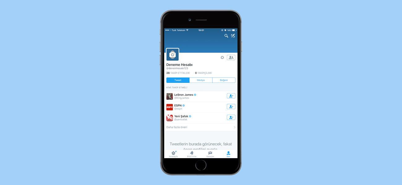 Telefondan Twitter Açma - Twitter Kaydol