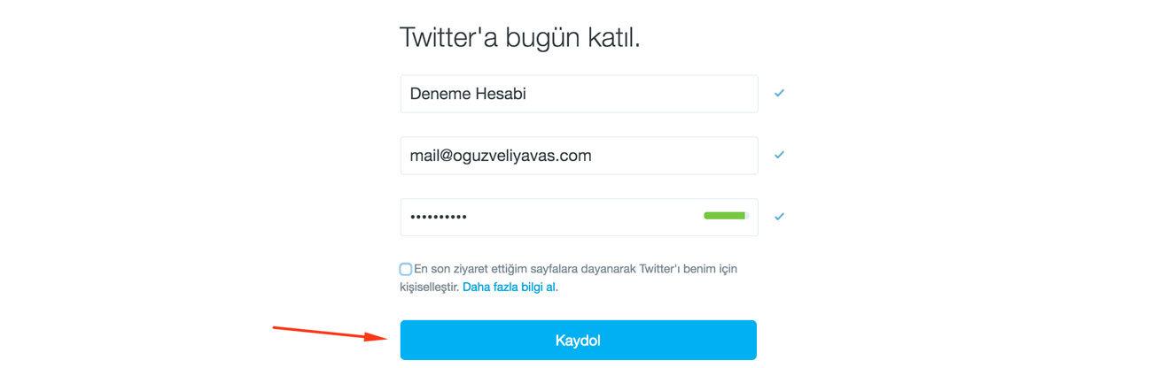 Twitter Kaydol - Twitter Kayıt Sayfası - Twitter Aç