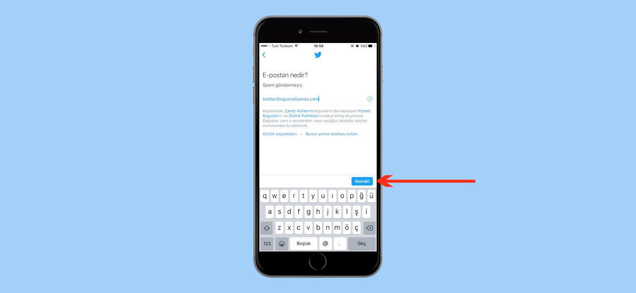Telefondan Twitter Kayıt - Twitter Aç - Twitter Eposta Onayı