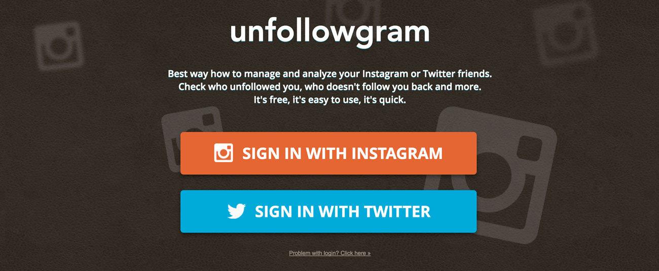 instagram takip etmeyenler sitesi unfollowgram