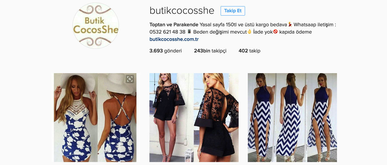 en iyi instagram butikleri - butikcocosshe