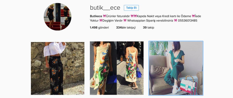en iyi instagram butikleri - butikece