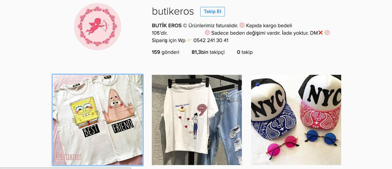 en iyi instagram butikleri - butikeros