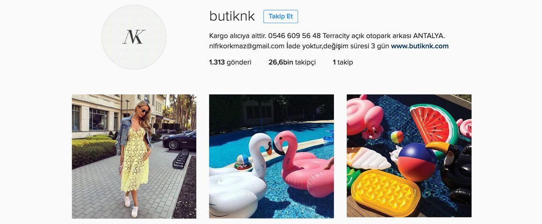 en iyi instagram butikleri - butiknk