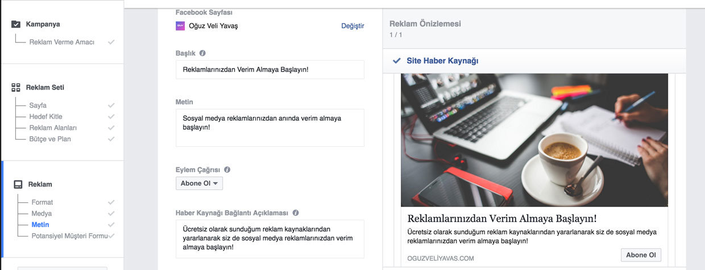 Facebook potansiyel müşteriler bulma reklamı - potansiyel müşteriler için facebook reklam metni