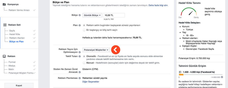 Facebook potansiyel müşteriler bulma reklamı - potansiyel müşteriler için facebook hedef kitle oluşturma