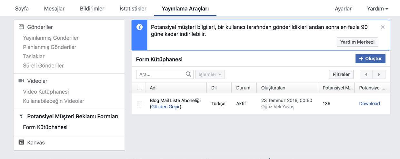 Facebook potansiyel müşteriler bulma formlarını indirme - facebooktan müşteri bulma reklamı