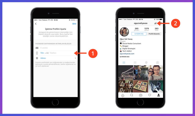 instagram işletme hesabına geçiş yapma - instagram işletme istatistikleri - instagram işletme hesabı nasıl kullanılır