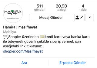 Instagram'dan Satış Yapmak - Shopier Linki