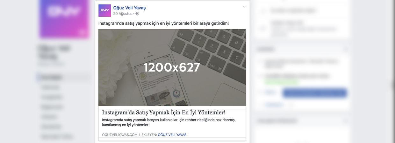 Facebook Gönderi Öne Çıkarma Reklam Boyutları - Facebook'ta Habere Reklam Çıkmak