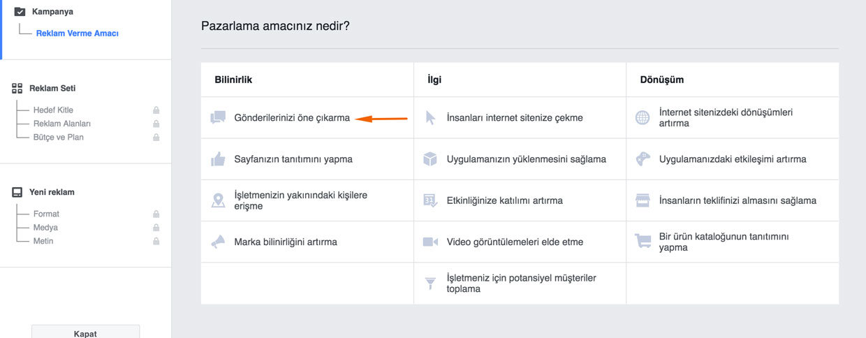 Facebook gönderi öne çıkarma reklamı nasıl verilir?