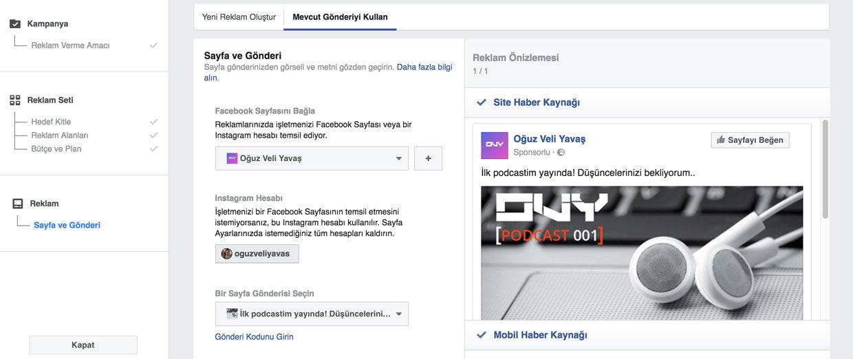 Facebook Gönderi Öne Çıkarma Reklamı Verme