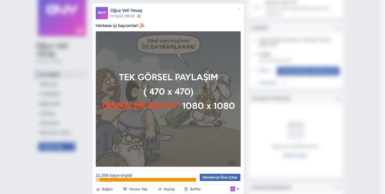 Facebook Tek Görsel ile Gönderi Öne Çıkarma - Facebook Fotoğrafa Reklam Verme