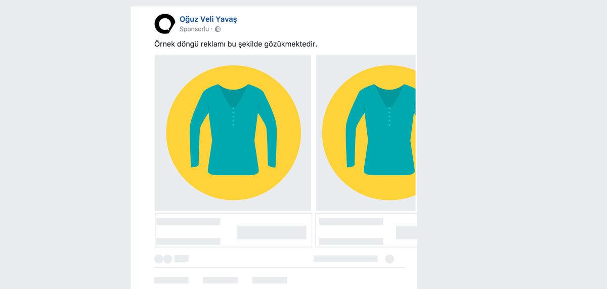 Facebook Pikseli - Örnek Döngü Reklamı