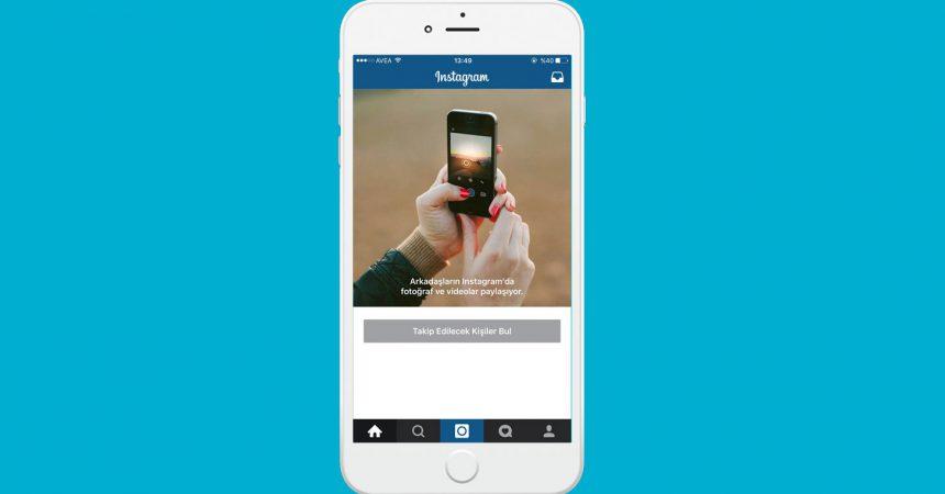 instagram aç ve kayıt ol